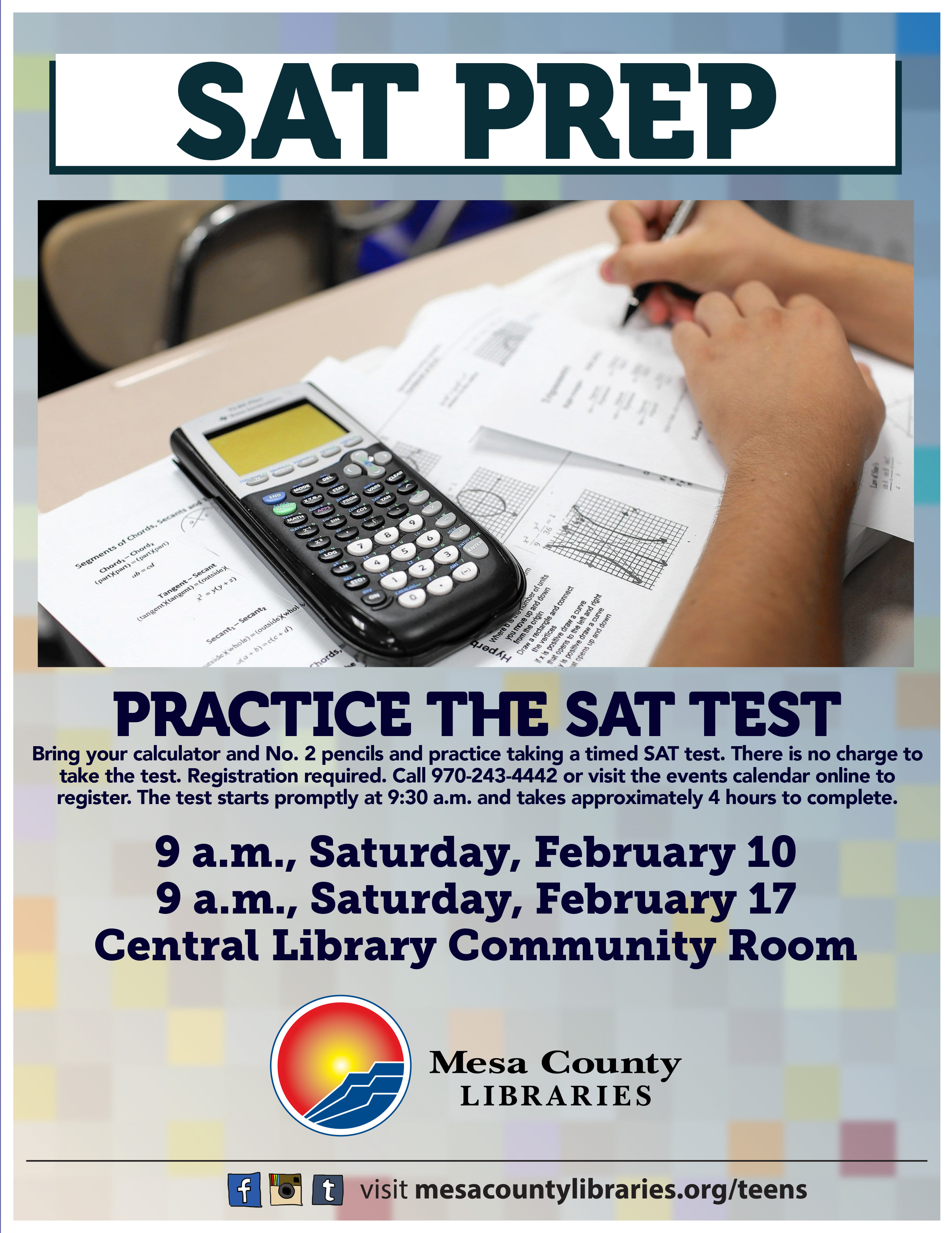 SAT practice tests set for Feb  10 and 17 at Central Library – Mesa
