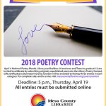Poetry Contest flier