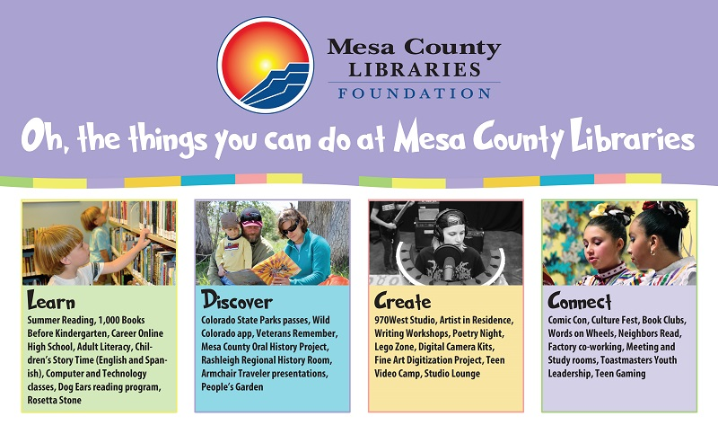Oh, the things you can do at Mesa County Libraries!
