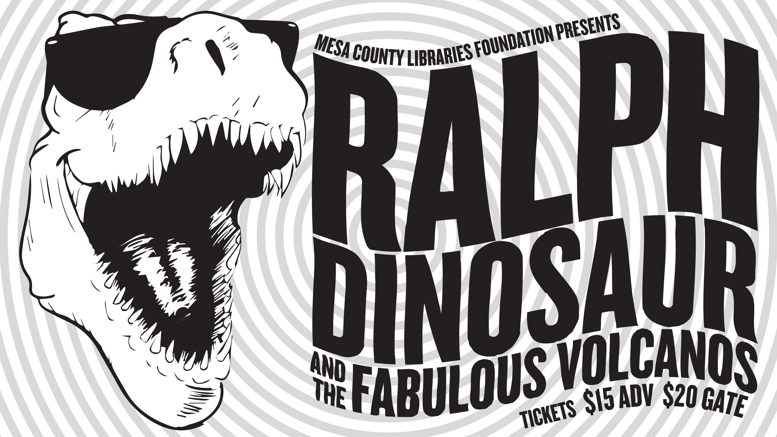 the mesa county libraries foundation will present ralph dinosaur and the fabulous volcanos in concert the evening of saturday june 30 2018