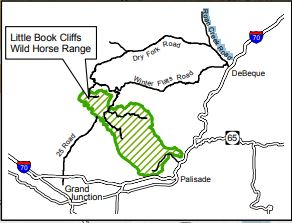 blm map of the Little Book Cliff's Wild Horse Range