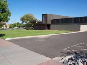 Mesa County Central Library as seen from 6th Street and Grant, 2012.