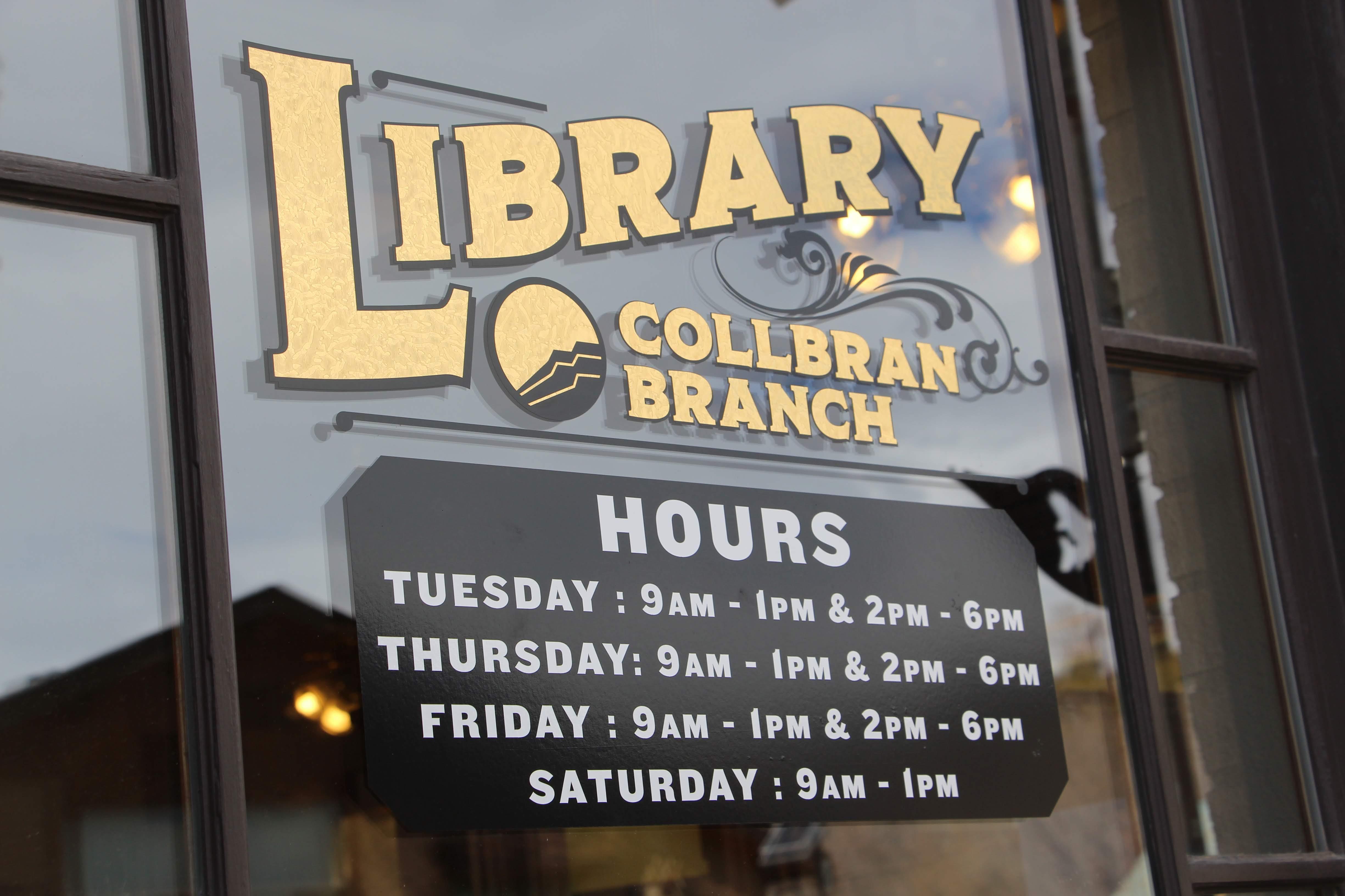 Collbran sign detail