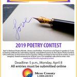 Poetry Contest flier