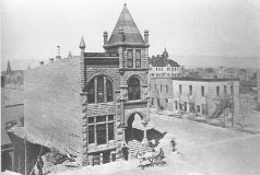 A photo of the original Grand Valley National Bank Building.