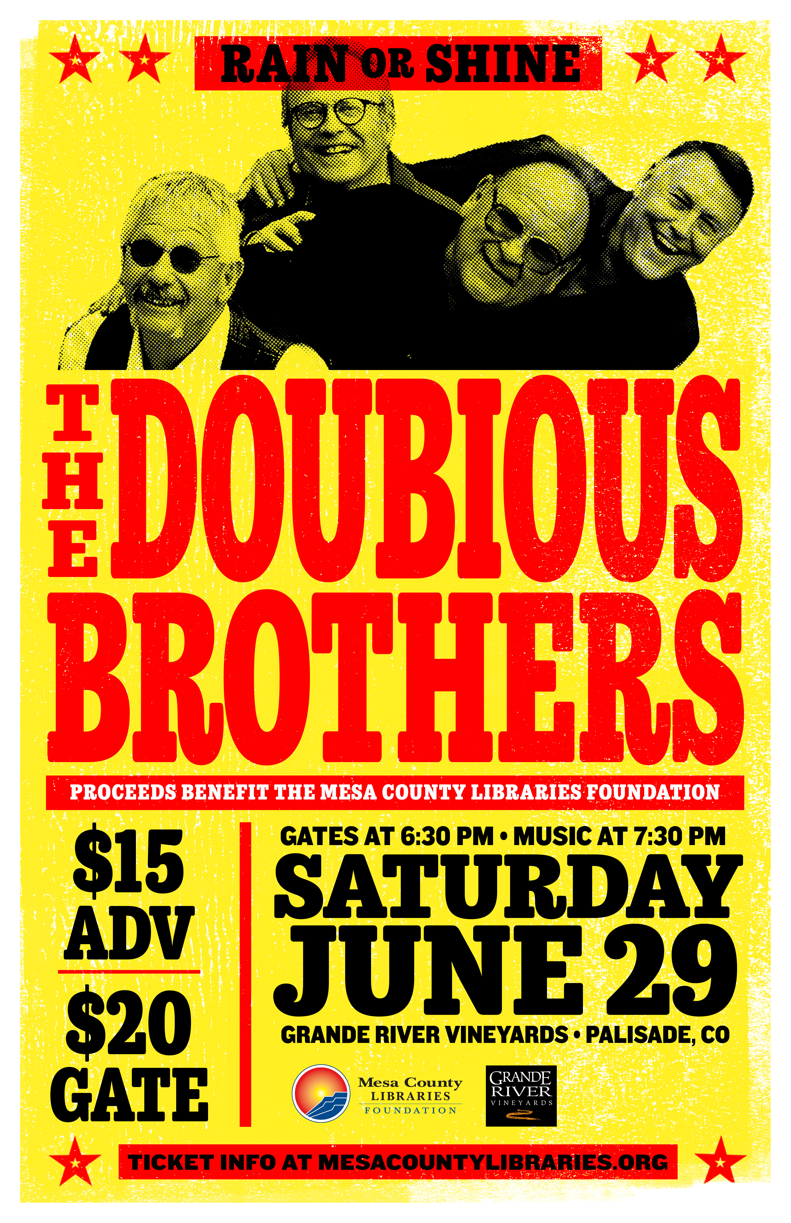 The Doubious Brothers Concert Flyer
