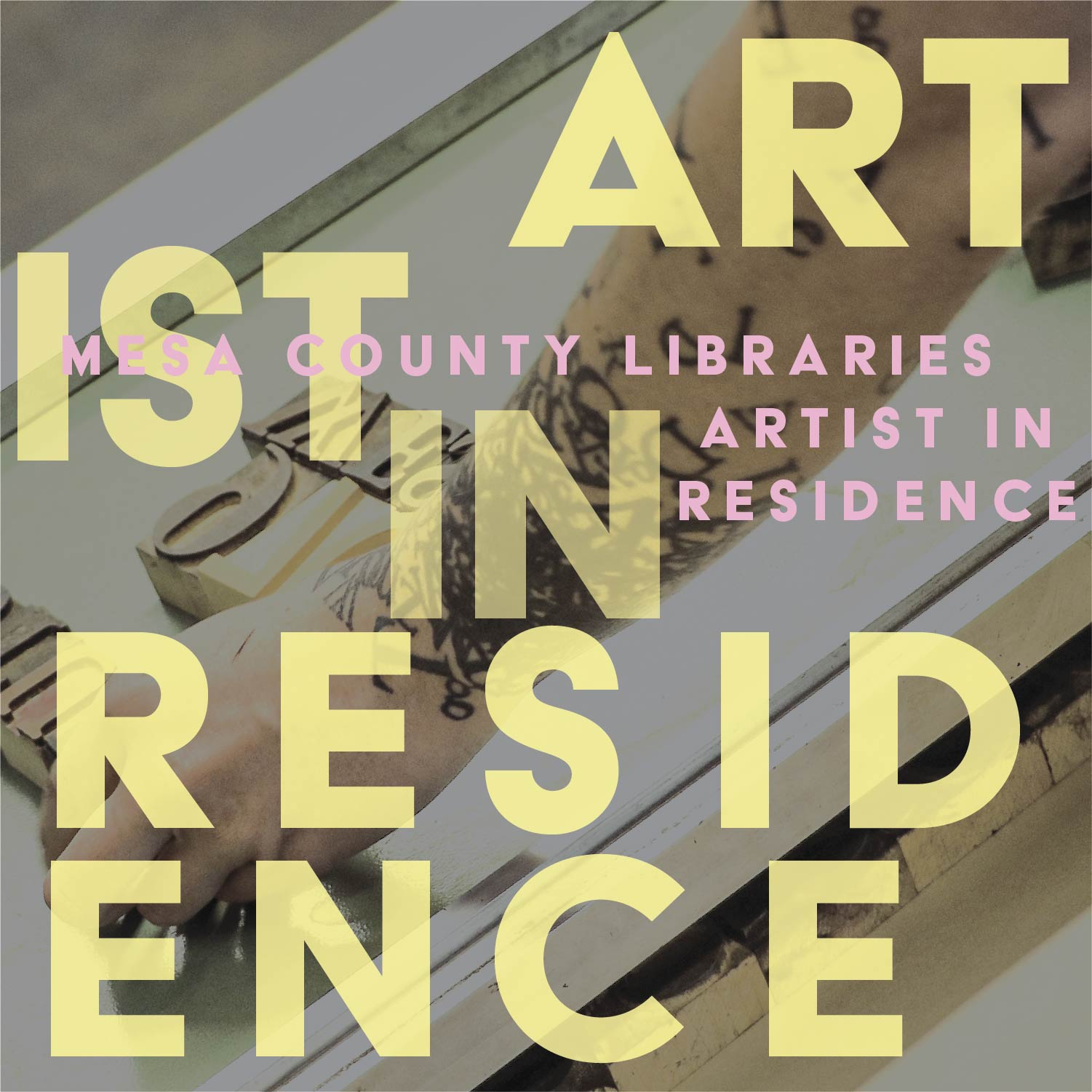Graphic depicting Artist in Residence program