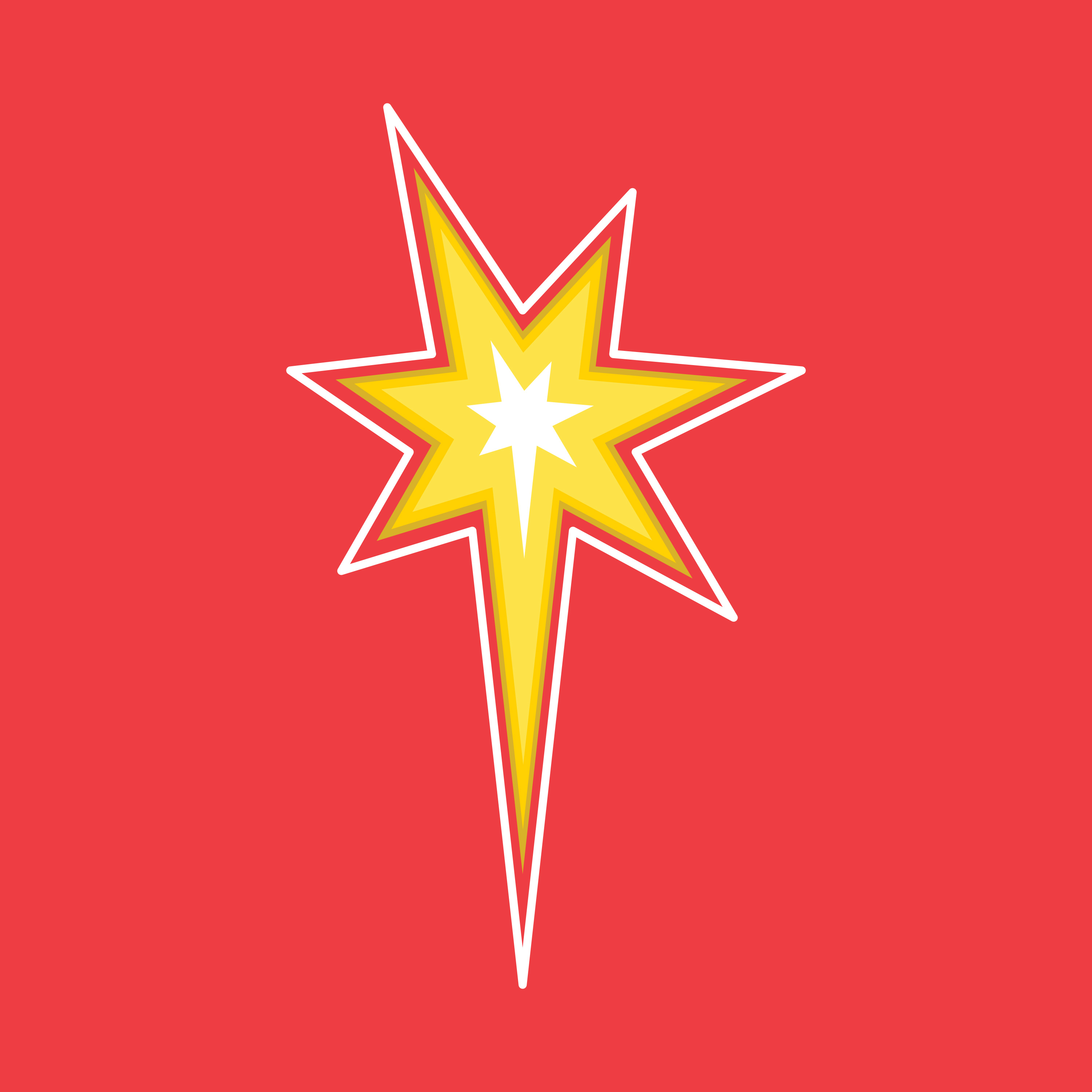 Star detail from Comic Con logo