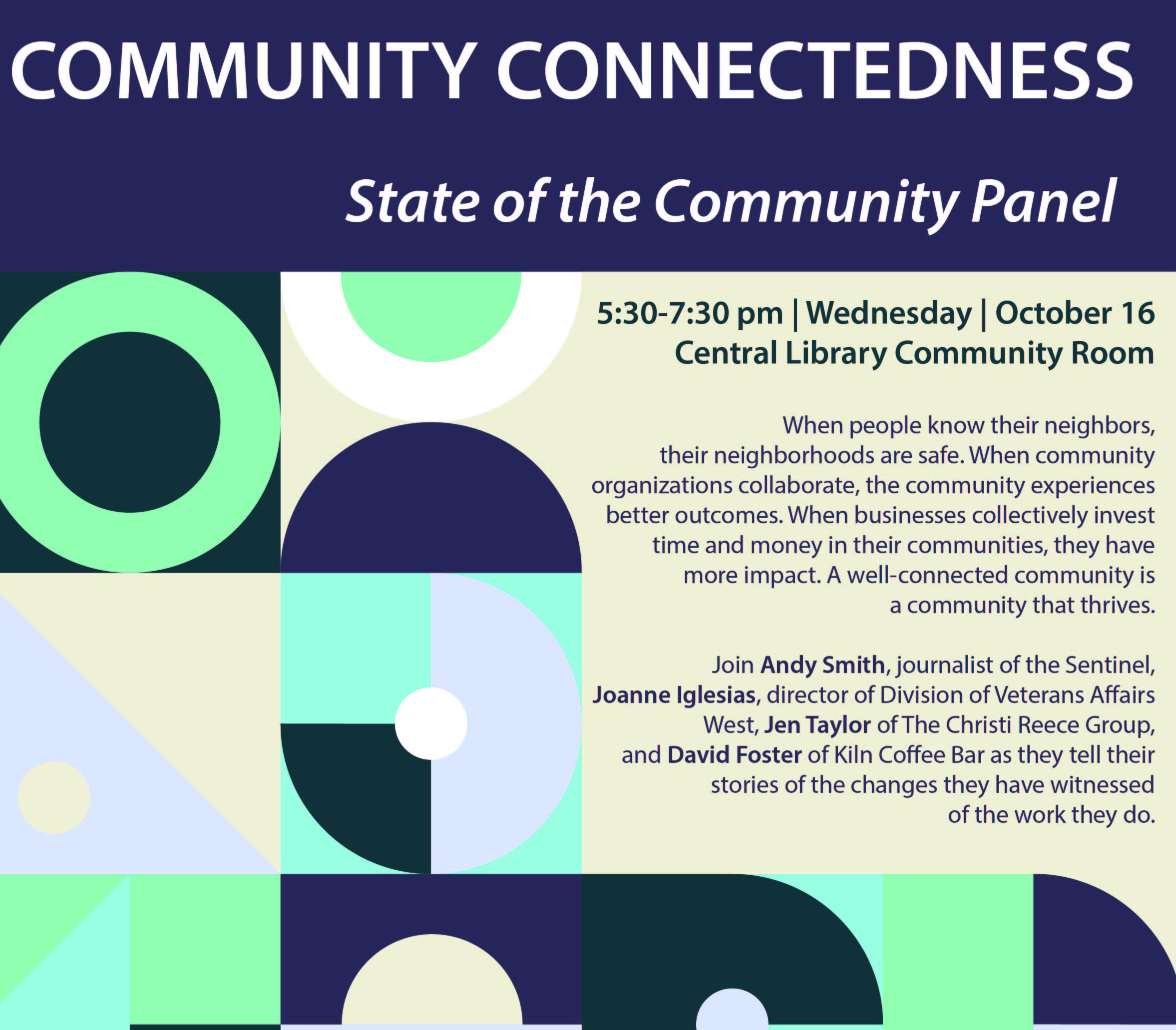 Detail from Community Connectedness flier