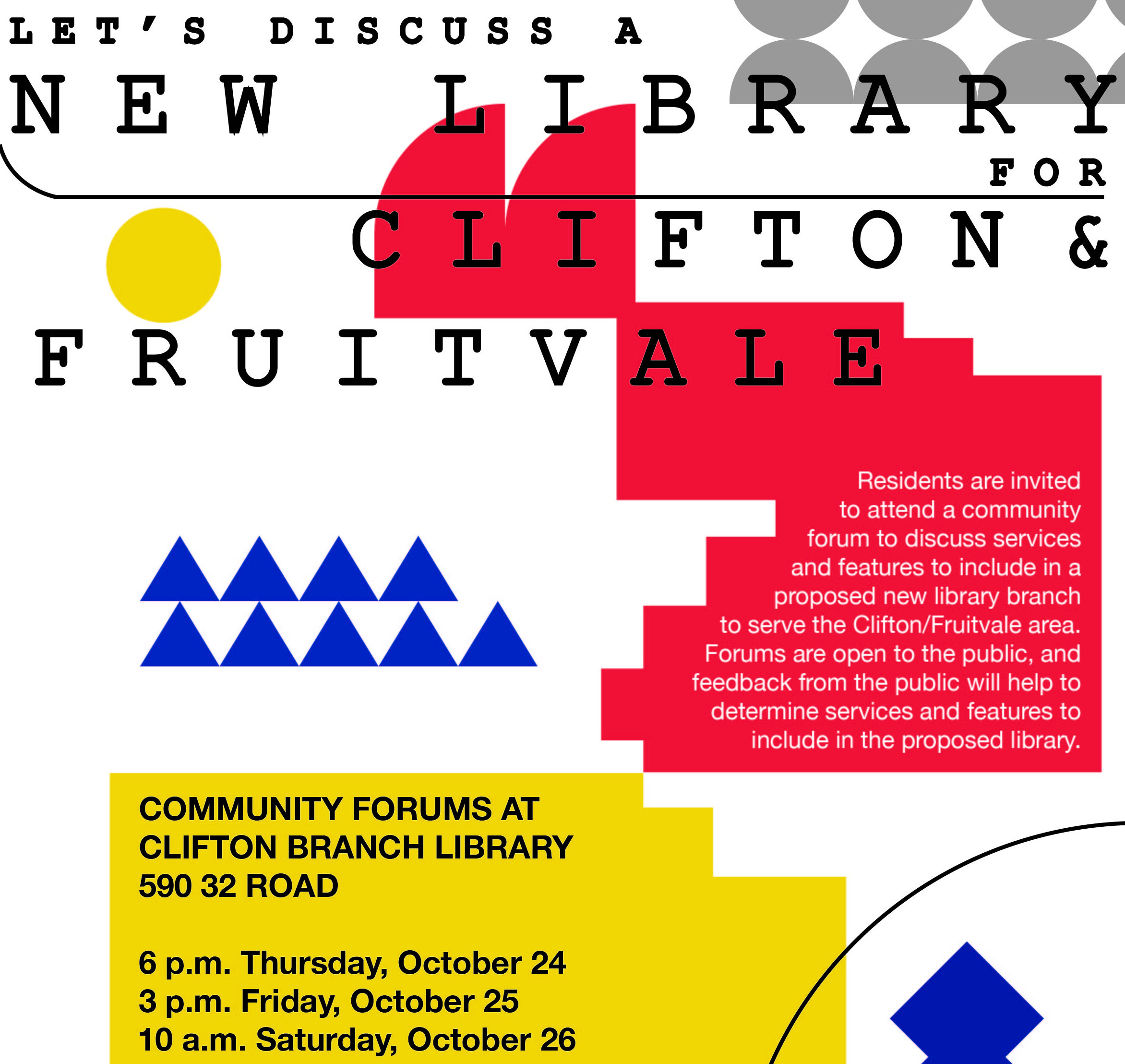 Detail from flier promoting community forums
