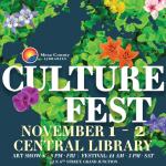 Culture Fest flower design logo