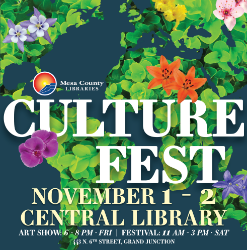 Culture Fest flower design logo