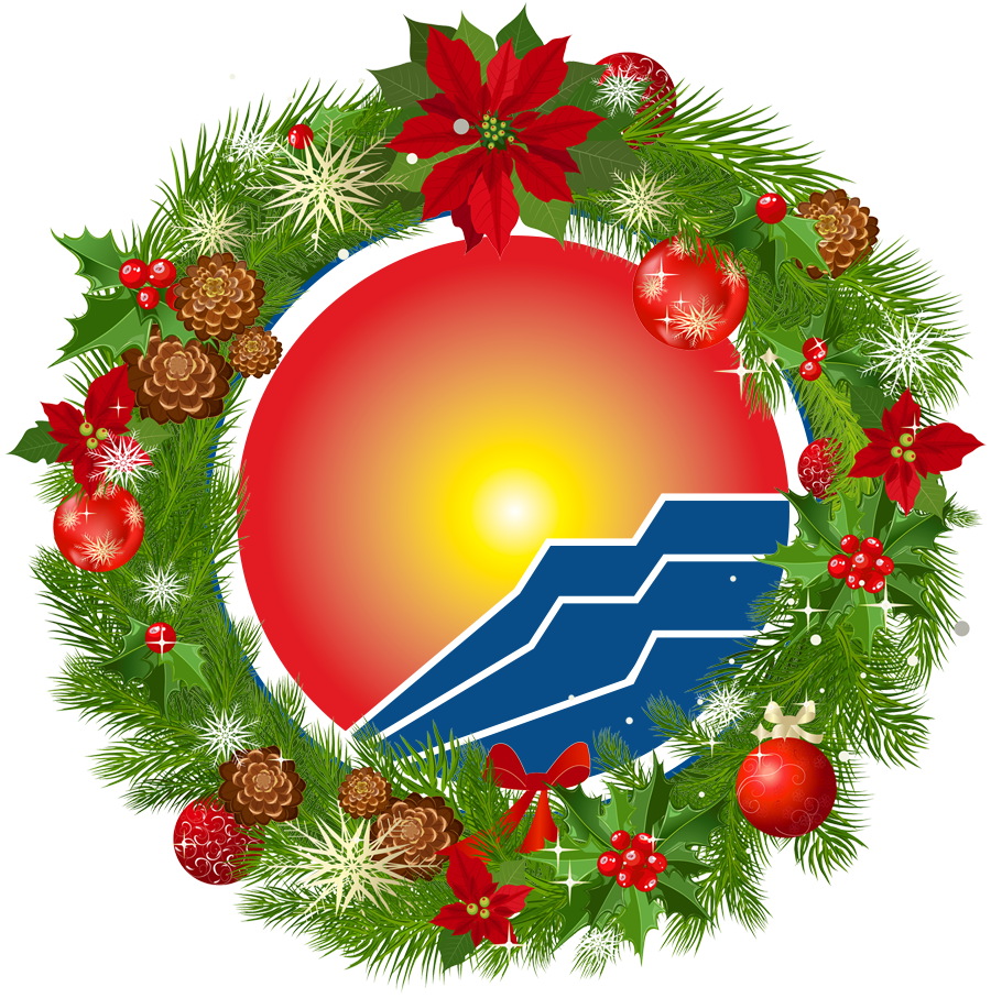 Library logo surrounded by wreath