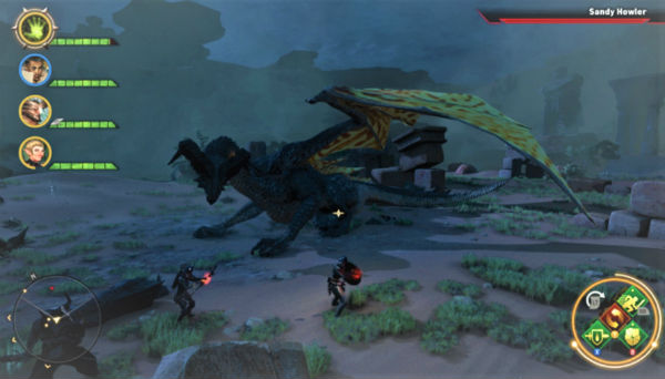 Picture of gameplay dragon fight