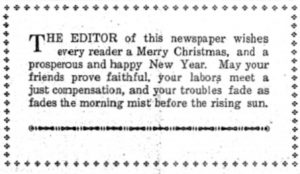 Plateau Voice note from the Editor, December 18 1918.