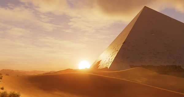 Picture of Egyptian Pyramid from Video Game