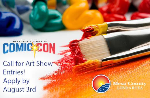 visit comic con art show entry page