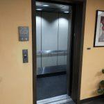 Elevator with open door