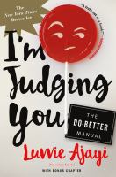 """Book cover for """"I'm Judging You"""""""