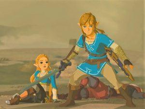 Link Defends Zelda