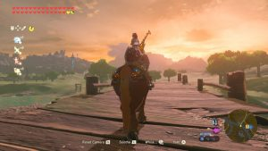 Horse and Sunset Breath of the Wild