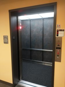 New elevator with door open