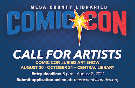 Graphic for the Comic Con Call for Artists page